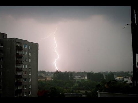 Uderzenie pioruna w... mój blok ;-)