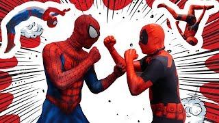 Deadpool VS Spiderman In Real Life (Parkour, Trampoline, Stunts)