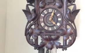 Nice Carved Antique Cuckoo Clock By Phs