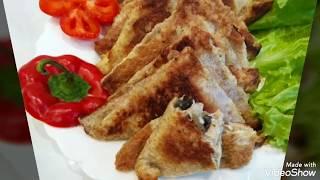 Классная закуска из тостового хлеба.