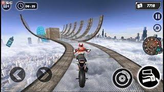 Mega Ramp GT Moto Bike Rider Stunts 2019 - Impossible Motor Games - Android Gameplay FHD  #2