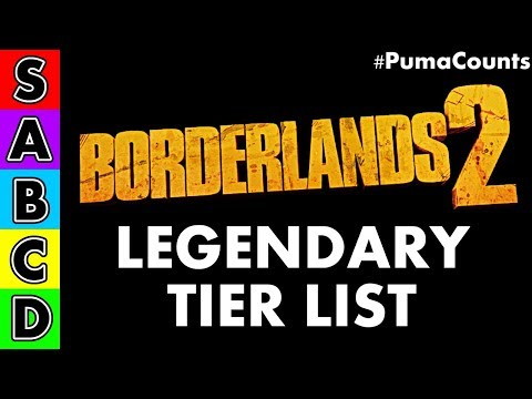 The ULTIMATE Borderlands 2 Legendary Tier List (Ranking All Legendary Guns And Weapons) #PumaCounts
