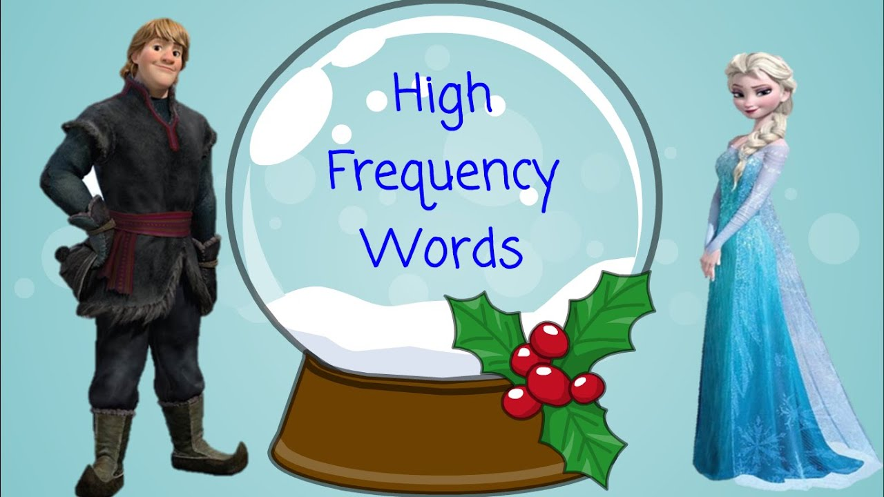 High Frequency Words With Frozen Characters