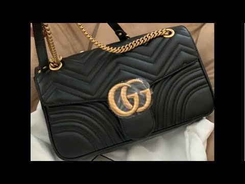556d9df6088e Gucci Marmont Medium 31CM | What fits inside 🤩| Kay Flight TV - YouTube