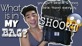 WHAT IS IN MY BAG/BACKPACK? *FUNNY* :) || CHRIS PYPATA  (PHILIPPINES)