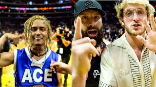 Lil Pump Confirms My Theory...Logan Paul Challenges Me To A Race! (at ACE Family Charity Event)