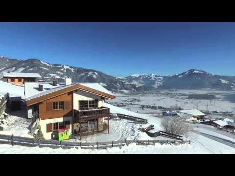 Chalet an der Piste Austria Zell am See Kaprun ski in ski out winter holiday video