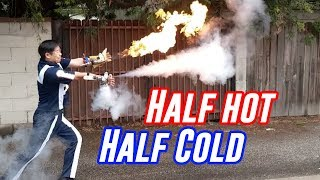 Ice & Fire From My Hands (Liquid Nitrogen + Flamethrower Wrist Mounted) | My Hero Academia Month!!!