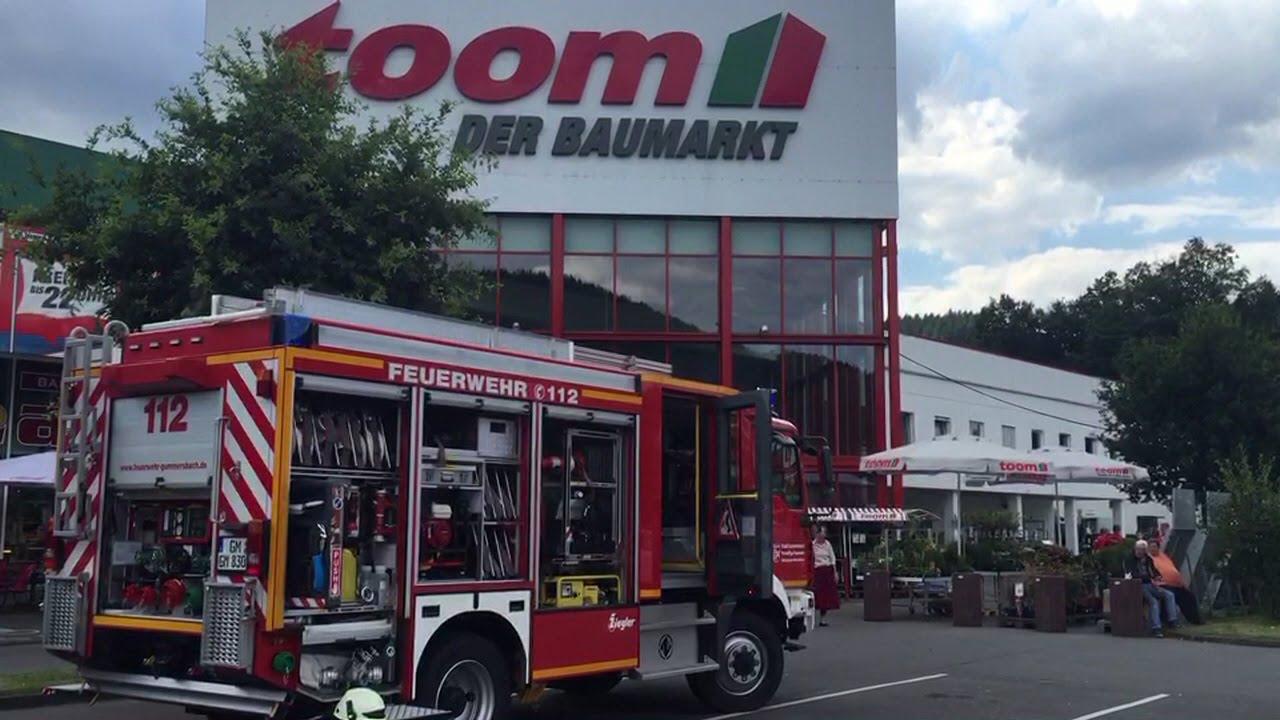 14.07.2016 | Evakuierung: FEUER in TOOM Baumarkt Gummersbach ...