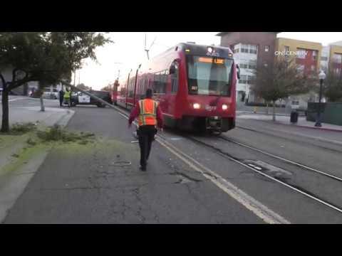 San Diego: Street Blocked After Trucker Brings Down Street Light