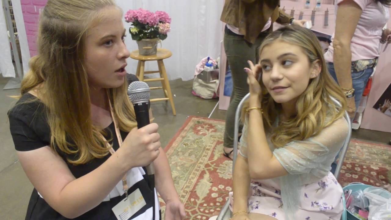 G Hannelius Interview at Beauty Con Make Me Nail Booth - YouTube