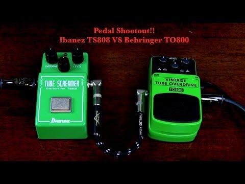 Pedal Shootout!! Ibanez TS808 Tube Screamer VS Behringer Vintage Tube Overdrive TO800