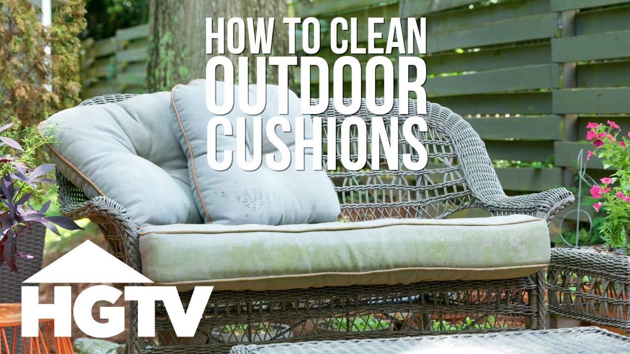 How To Clean Outdoor Cushions Hgtv You