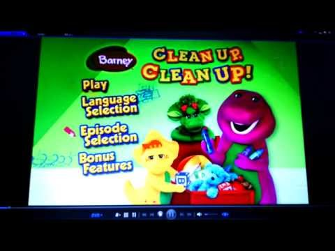 Barney CLEAN UP, CLEAN UP!