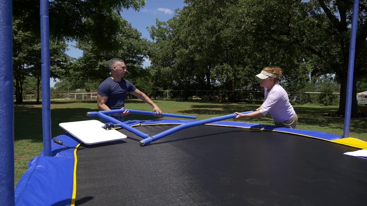 Jumpking 10x15 Oval Trampoline Assembly Video - YouTube