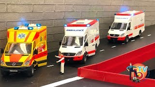 RC AMBULANCE RESCUE MISSION! Rc MODEL Truck Mercedes BRUDER Toys