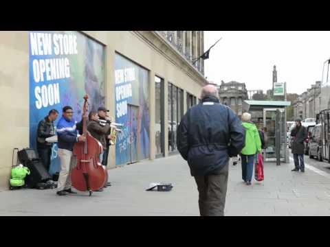 Street jazz on Princes St, Edinburgh