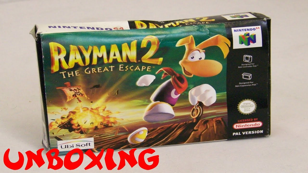 Ocg Unboxing Rayman 2 The Great Escape N64