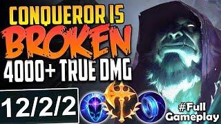 CONQUEROR RUNE IS BROKEN | 4000+ TRUE DAMAGE | Conqueror Yorick vs Garen TOP BUILD SEASON 8 Gameplay