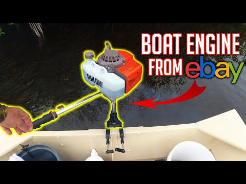 $200 eBay outboard motor | Unboxing, Assembly & Taking it Fi