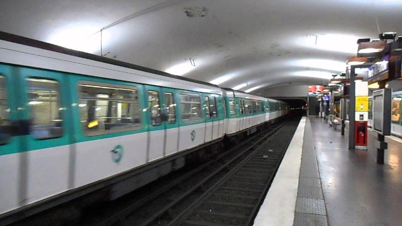 Passage du mf77 n 31085 de la ligne 7 porte de pantin ligne 5 youtube - Fourriere porte de pantin ...