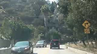 Sunset Blvd to Mulholland Clips Via Laurel Canyon Blvd