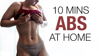 INTENSE FLAT STOMACH WORKOUT - 10 Minutes / Abs + obliques  : Get rid of belly fat