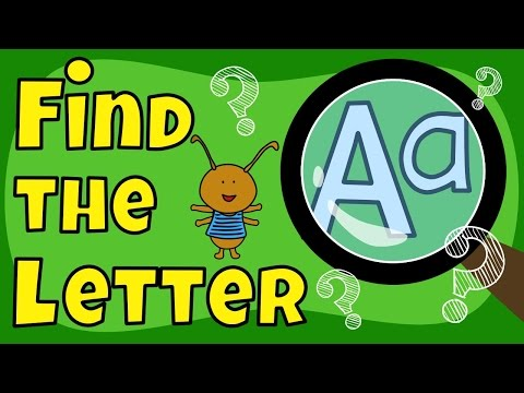 Letter Game | Find the Letter A | The Singing Walrus