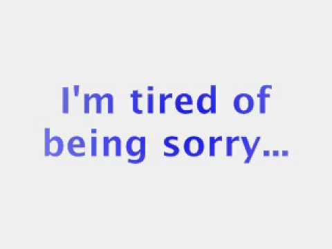 Enrique Iglesias - Tired Of Being Sorry(Lyrics)