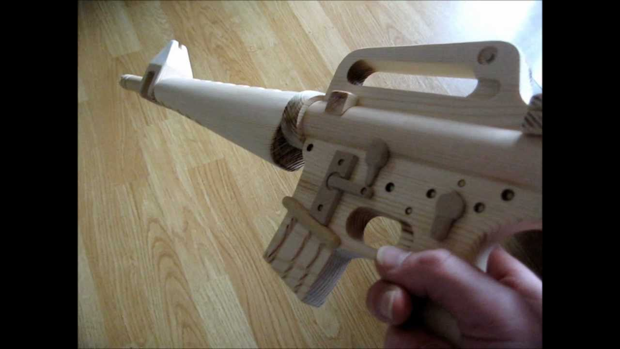 M16a1 Vietnam Wooden Us Army Assault Rifle Youtube