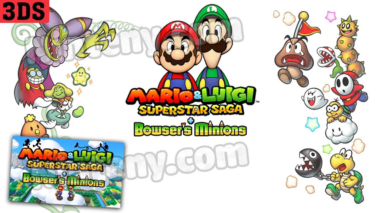 Mario Luigi Superstar Saga Bowser S Minions 3ds Decrypted