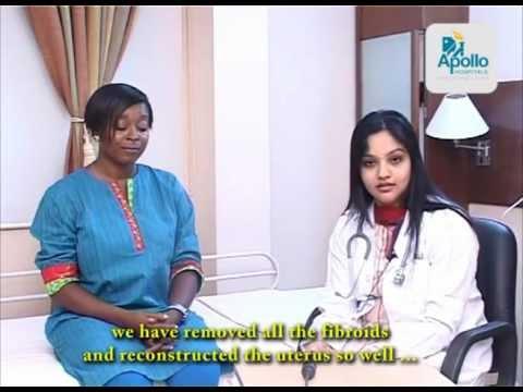 Ms  Oshamisu from Nigeria for removal of fiberoids via robotic surgery: