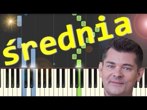 🎹 Przez twe oczy zielone (Akcent) - Piano Tutorial (średnia wersja) 🎹