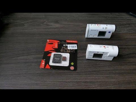 MicroSD 256 Gb In SONY FDR-X3000 + FDR-X1000 + HTC U12+