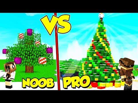ALBERO DI NATALE NOOB contro ALBERO PRO su MINECRAFT!