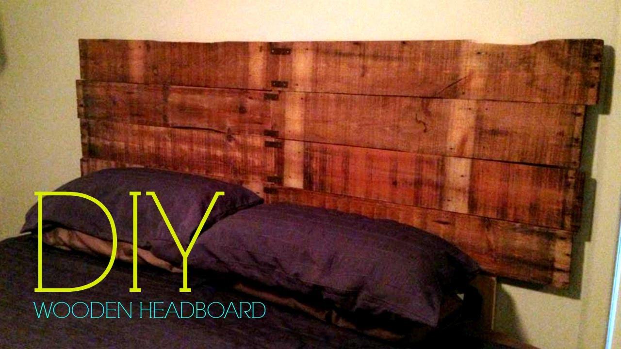 Diy Wooden Headboard Youtube