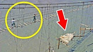5 СТРАШНЫХ и опасных мостов для самых смелых