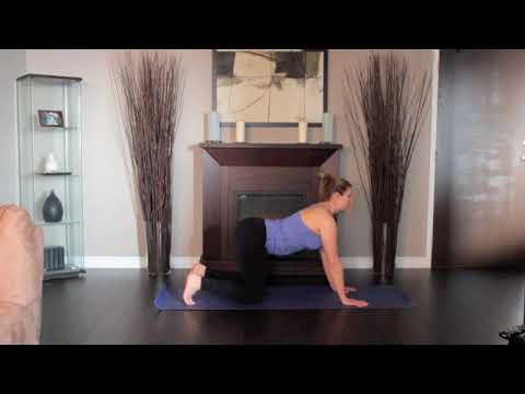 yoga tutorial 04 warm up  cat cow pose/marjaryasana