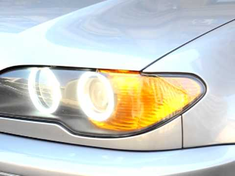 Angel Eyes + USA Style corner lights BMW E46 Coupe Facelift