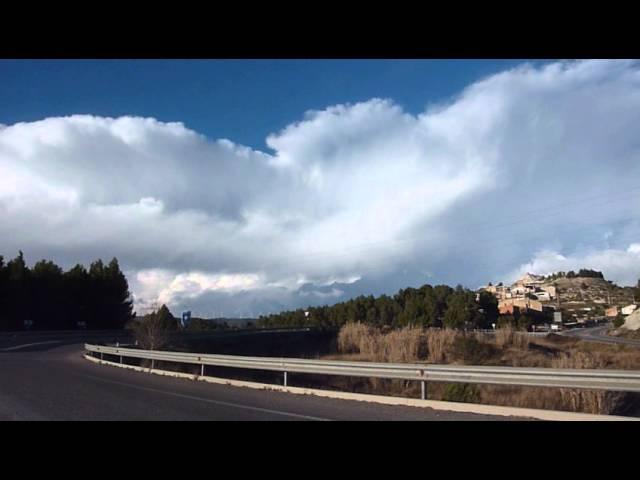 Cúmulonimbus d'hivern a la Catalunya central  Febrer 2015