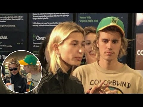 Fan taken photos of Justin and Hailey Baldwin at a Shake Shack in Manhattan, New York