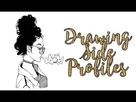 how i draw side profiles youtube