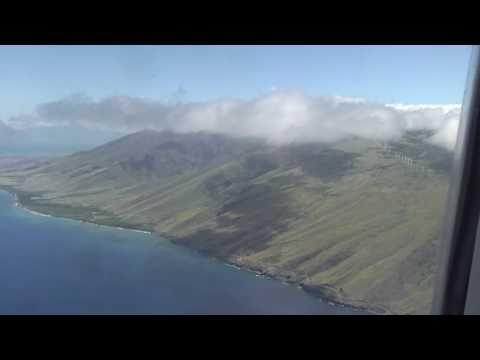 Descent into Maui, Kahului airport (OGG) Hawaii
