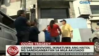 24Oras: Ozone survivors, ikinatuwa ang hatol ng Sandiganbayan sa mga akusado