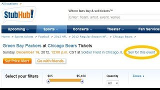 How To Sell Concert Tickets -- StubHub