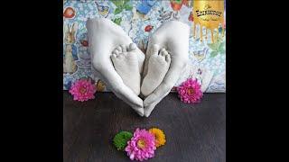 Beautiful Baby Feet Heart Hold