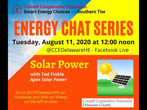 Energy Chat-Residential Solar Power-8-11-20