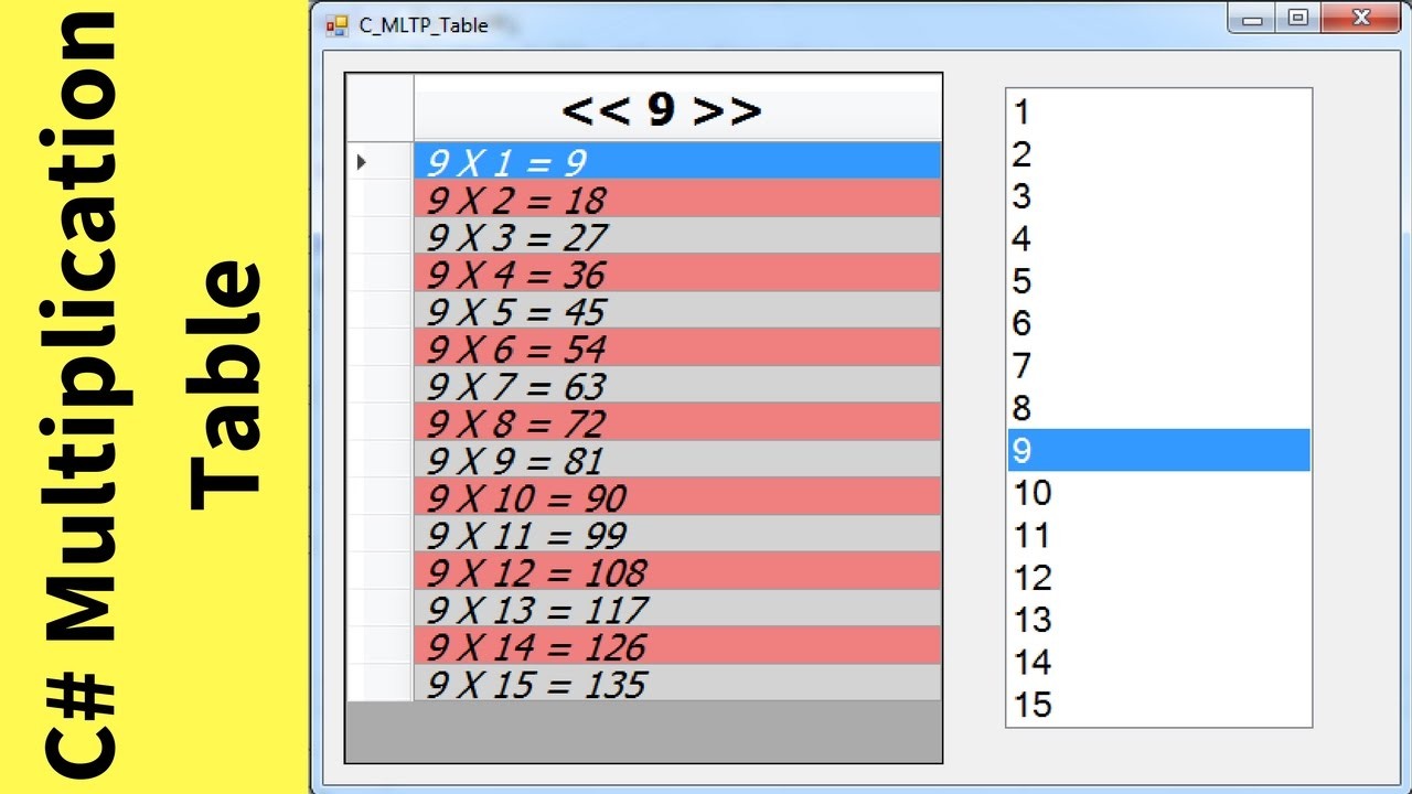 Online multiplication table choice image periodic table images c how to create multiplication table in c using datagridview c how to create multiplication table gamestrikefo Images