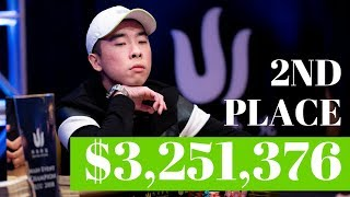 Wai Leong is Happy to Get 2nd Place in the Record Breaking Triton Poker Jeju Main Event!