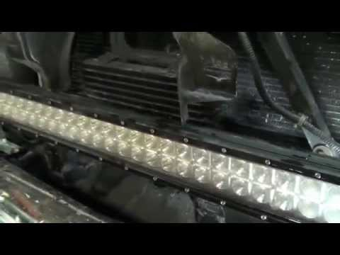 Hidden Led Light Bar Behind The Grille Youtube
